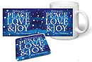 Peace Love and Joy Mug and Coaster Set