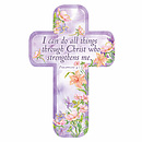 """I Can Do"" (Purple) Paper Cross Bookmark Pack of 12"