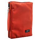 Fish Applique (Red) Promo Poly-Canvas Bible Cover - Large