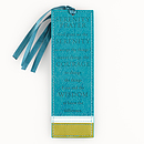 Serenity Prayer - Faux Leather Bookmark