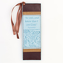 Psalm 46:10 - Faux Leather Bookmark