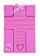 Baby Girl Blessing Hanging Ceramic Cross