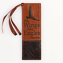 Isaiah 40:31 - Faux Leather Bookmark