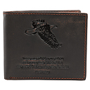 Brown Genuine Leather Wallet - Isaiah 40:31