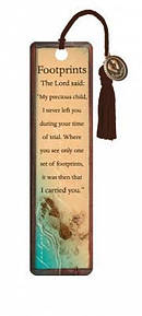 """Footprints"" Bookmarks w/ Charm"