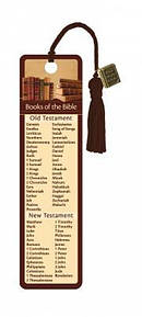 """Books of the Bible"" Bookmarks w/ Charm"