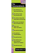 Ten Commandments (Lime) Bookmarks - Pack of 10