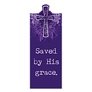 """Saved by His Grace"" (Purple) Magnetic Bookmark"