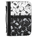 Psa. 46:10 (Black & White) Micro-Fiber Bible Cover- Medium