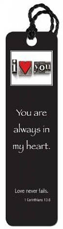 """Always in my Heart"" Tassle Bookmark"