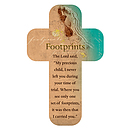 """Footprints"" Paper Cross Bookmark Pack of 12"