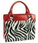 Cross (Zebra Print) Purse-Style Bible Cover- Medium