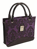 Cross (Purple) Microfiber Purse-Style Bible Cover- Medium