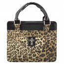Cross (Leopard Print) Purse-Style Bible Cover- Medium