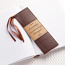 I can do everything - Faux Leather Bookmark