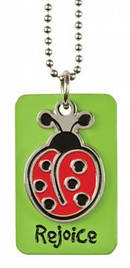 Laedee Bugg Green Charm Necklace
