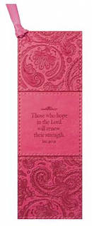 Isa 40:31 - Faux Leather Bookmark