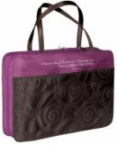 Jer. 29:11 (Purple/Brown) Micro-Fiber Purse-Style Bible Cover- Large