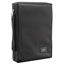 Fish Applique (Black) Poly-Canvas Bible Cover - Medium