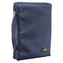 Fish Applique (Navy Blue) Poly-Canvas Bible Cover, Large