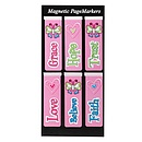 Little Miss Grace - Pink Magnetic Bookmark - Pack of 6