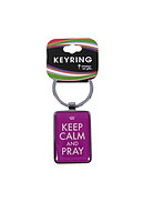 Keep Calm and Pray Metal Keyring