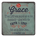Grace 1 Tim 1:14 Wood Magnet