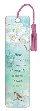 Psalm 139:17 Bookmark with Tassel - Single