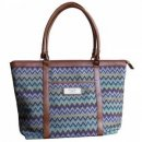 Chevron Stripe Tote Bag w/