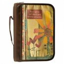 """Delightful Days"" The Lord's Love Printed Brown Poly-Canvas Bible - Lam 3:22- Large"