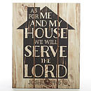 Wall Plaque-As For Me And My House