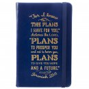 Notebook-FauxLeather-I Know The Plans-Blue w/Elastic Band Closure