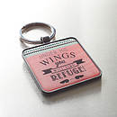 Under His Wings - Psalm 91:4 Keyring