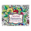 Creative Expressions Adult Coloring Cards (Box Of 44)