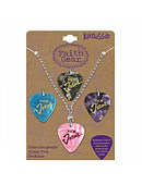 Guitar Pick Necklace - Interchangeable w/ Silver Chain