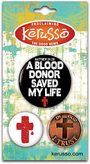 Blood Donor Badges - Set of 3