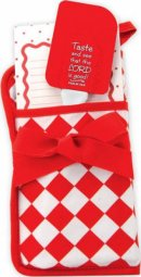 Oven Glove Kitchen Gift Set - Red and White