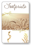 Footprints Laminated Prayer Card Pack of 12