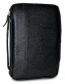 Genuine Leather Bible Cover - Black - Compact
