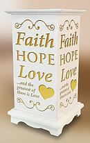 Faith Hope Love Lantern