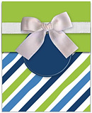 Blue and Green Stripe Reveal Card