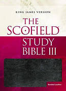 KJV Scofield Study Bible III: Black/burgundy, Bonded Leather Basketweave