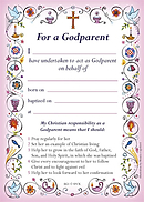 Pink Godparent Card - Pack of 40