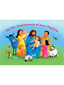 Anniversary of Baptism Card Pack of 10