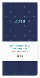 Church Pocket Book and Diary 2018 - Blue Geo Cross