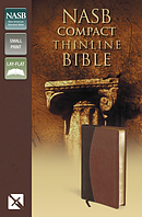 NASB Thinline Compact Bible: Mahogany/Chocolate, Imitation Leather