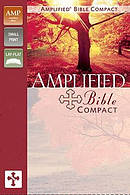 Amplified Bible Compact Leather Bible Camel/Burgundy Imitation Leather