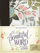 KJV, Beautiful Word Bible, Hardcover, Multi-color Floral Cloth, Red Letter Edition