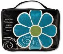 Flower Sparkle Blue Bible Case Medium