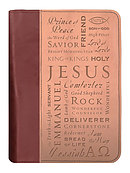 Duo Tone Names of Jesus Extra Large Book/Bible Cover